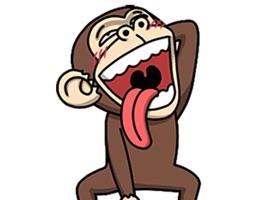 Crazy Funky Monkey Animated Stickers