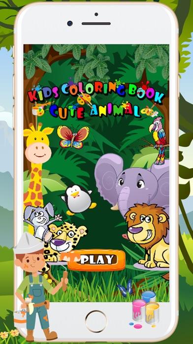 Kids Coloring Book Cute Animal App Screenshots
