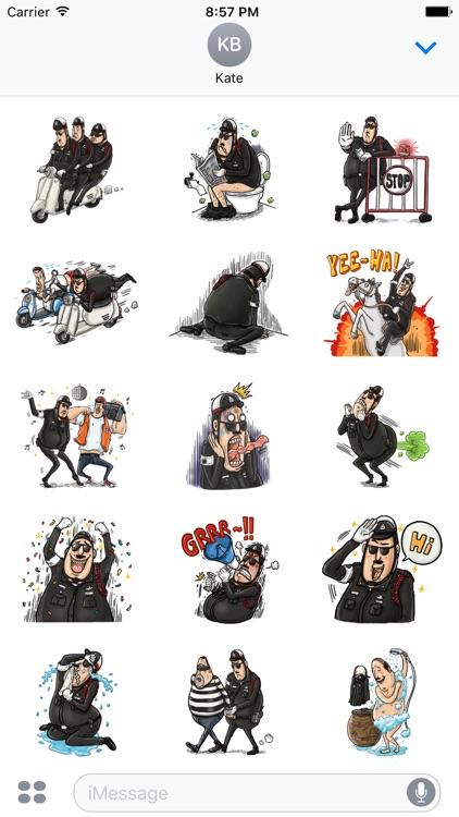 Policemoji. Stickers by Design107