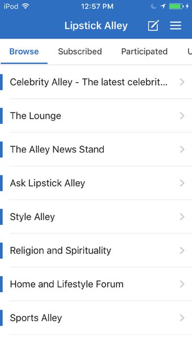 Lipstick Alley Forum screenshot 1