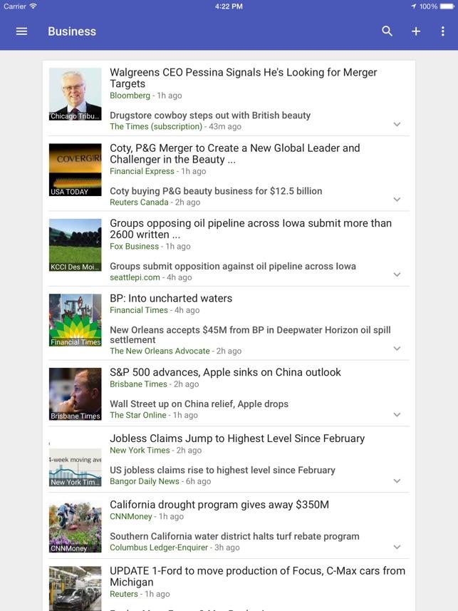 Googleニュース&天気情報 Screenshot