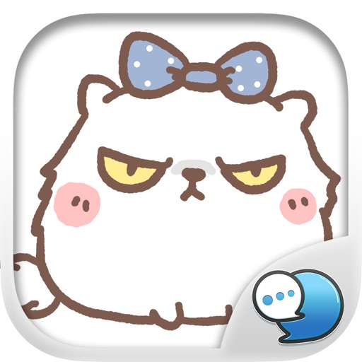 Moody the Angry Cat Stickers Keyboard By ChatStick