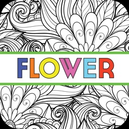 Flower Colorful - Coloring Book for Adults