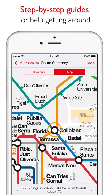Barcelona Metro - TMB map and route planner screenshot-3