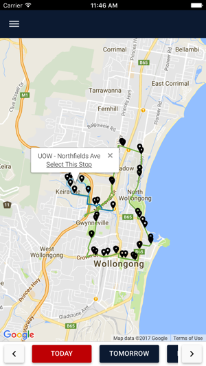UOW Shuttle Timetables GPS on the App Store
