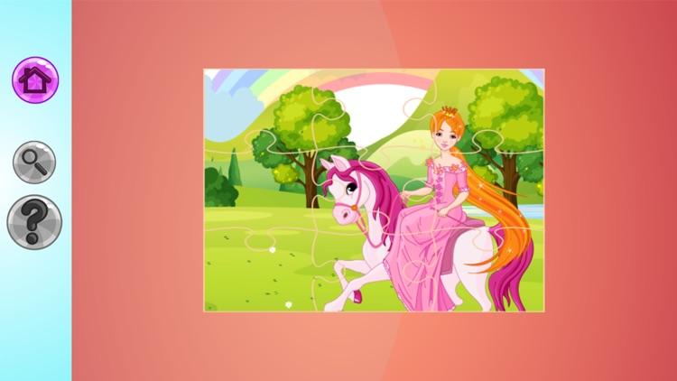Cute Princess Jigsaw Puzzle for Kids screenshot-3