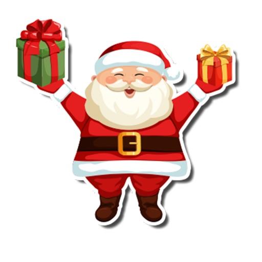 HO HO HO Santa Christmas Presents Stickers