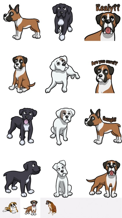 BoxerMoji - Boxer Emoji & Sticker screenshot-1
