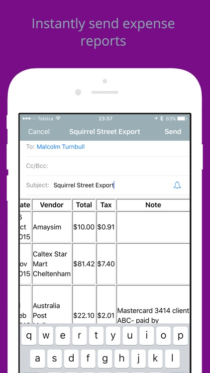 Squirrel Street Receipt Tracker
