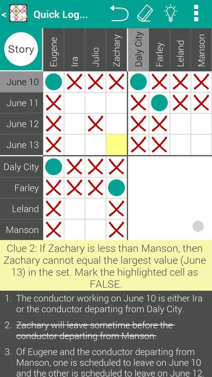 Quick Logic Puzzles - Free Daily Puzzle