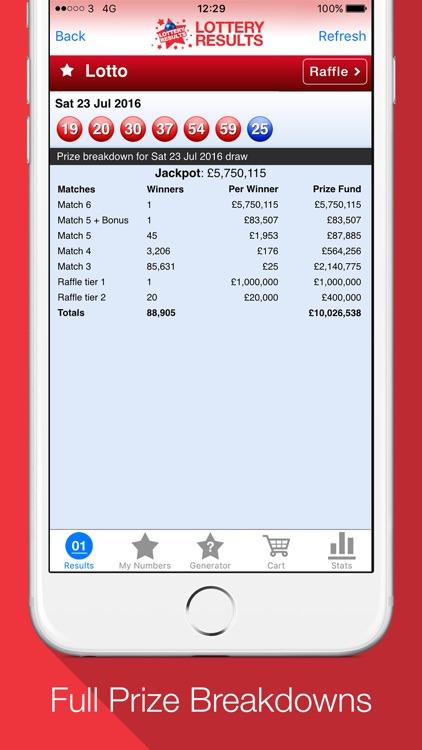 Lottery Results - Winning Ticket Push Alerts! screenshot-3