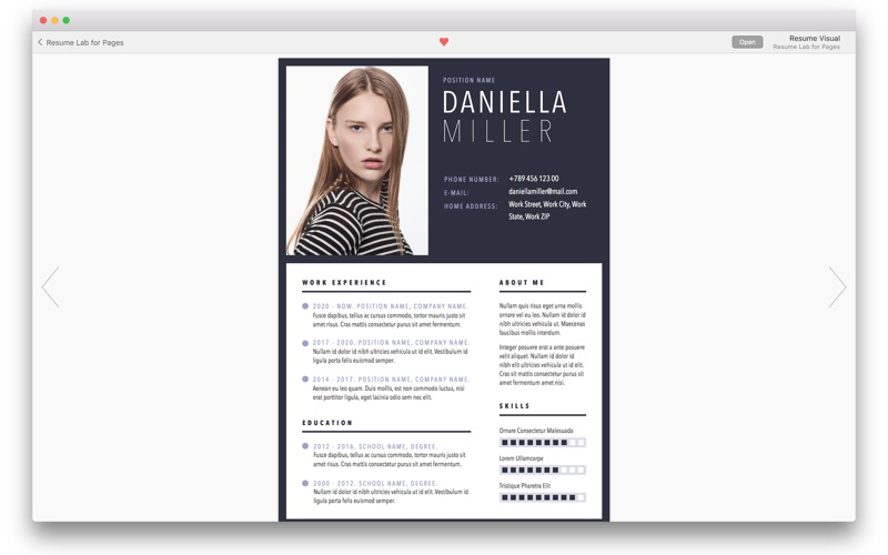 Resume & CV Lab - Templates Screenshots