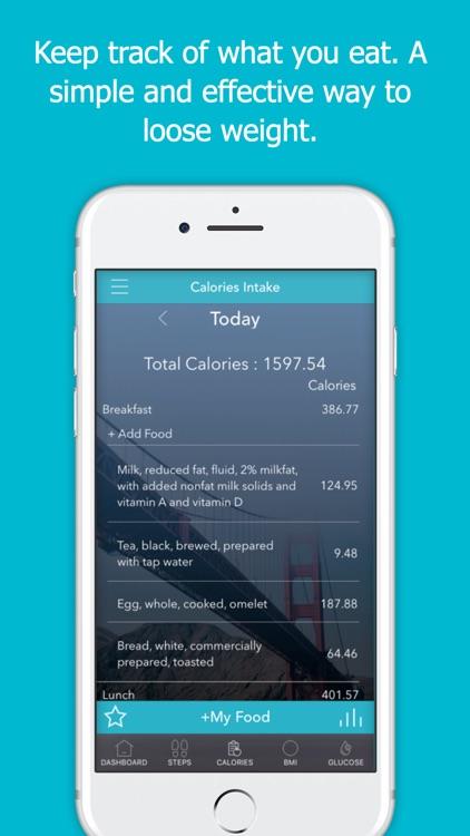 Calorie Counter Pal: Steps