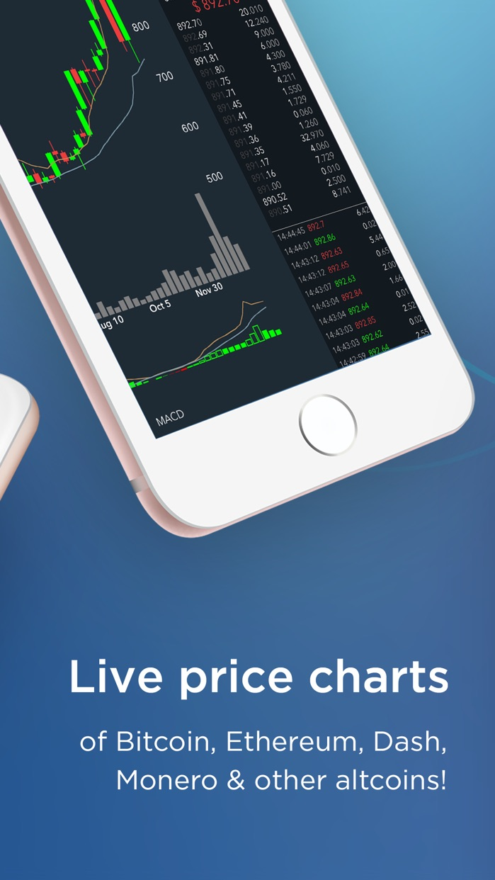 CryptoTrader - Bitcoin, Ethereum Real-time Chart Screenshot