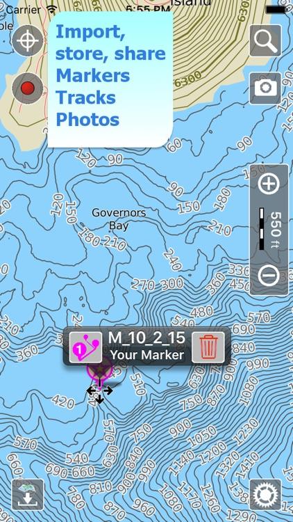Aqua Map Oregon OR Lakes HD - GPS Nautical Charts screenshot-3