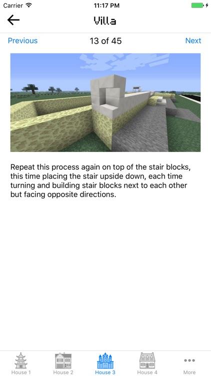 House & Building ideas guide for Minecraft PE screenshot-3