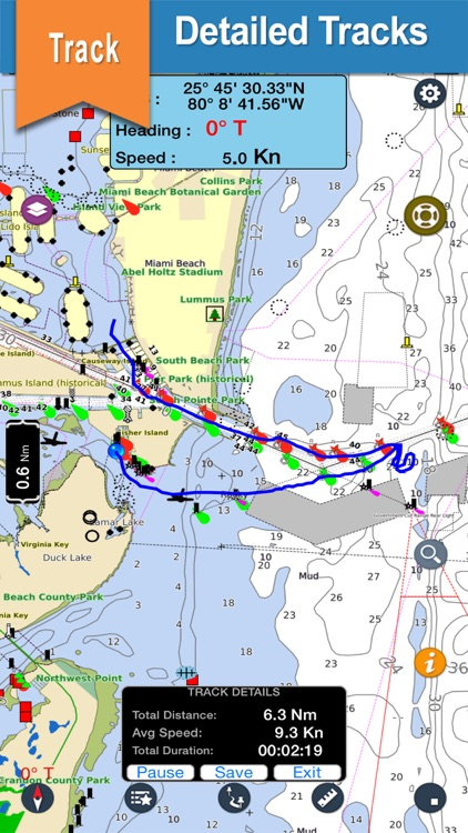 St.Lucia & St.Vincent navigation chart for crusing