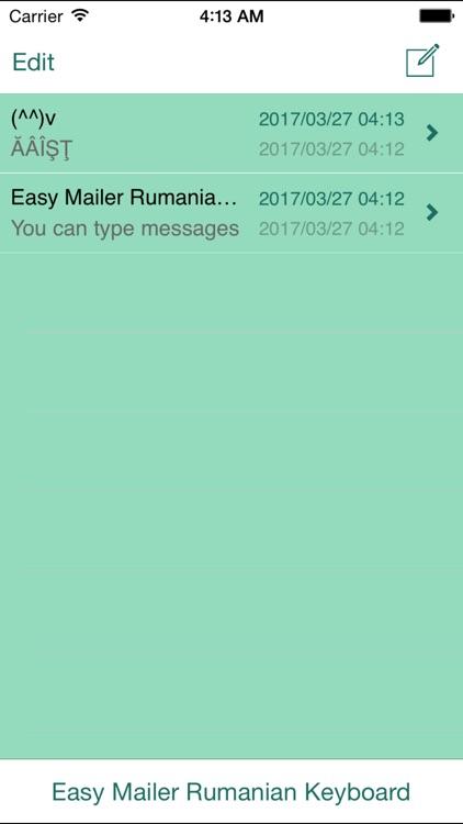 Easy Mailer Rumanian Keyboard