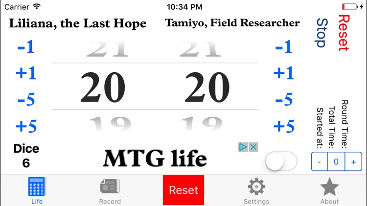 MTG life - life counter for your game