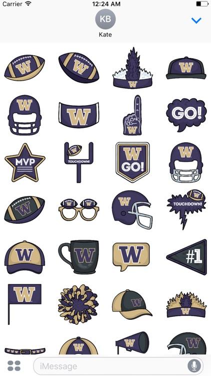 University of Washington Plus Sticker for iMessage