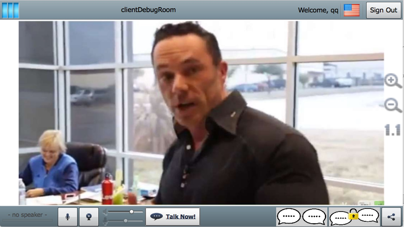 GVO mobile Conference Screenshot