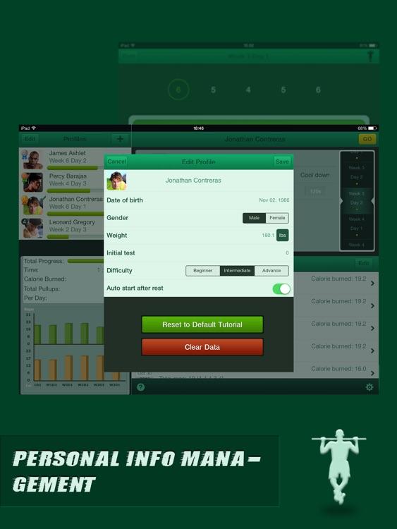 Pullups Coach Pro for iPad - Do 20 Pull Ups screenshot-4