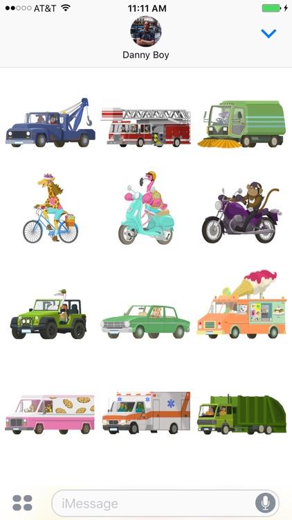 Big City Vehicles - Cars and Trucks Sticker Pack