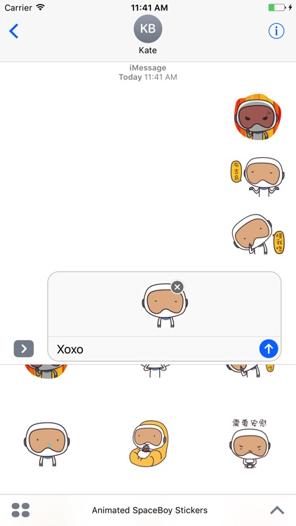 Animated SpaceBoy Stickers For iMessage