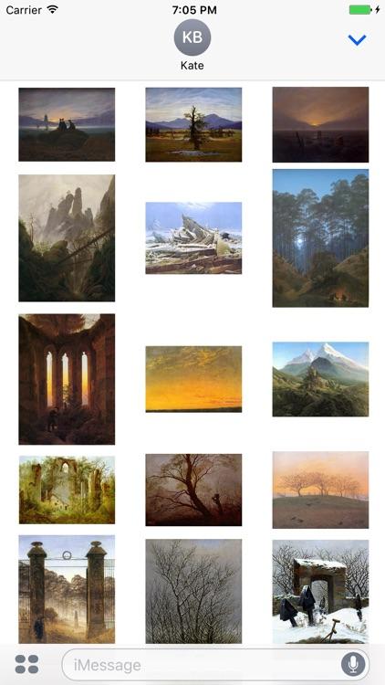 Caspar David Friedrich Paintings for iMessage
