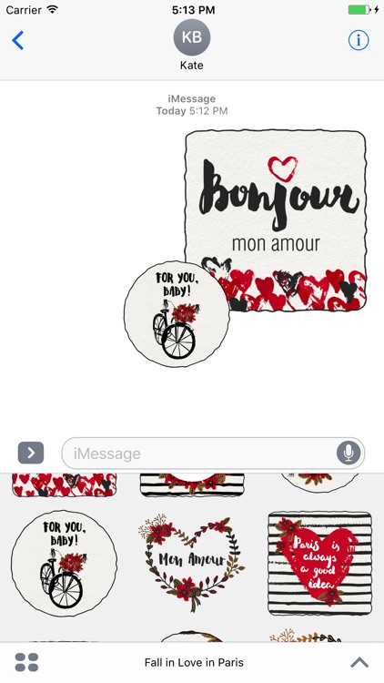 Fall in Love in Paris for iMessage Stickers screenshot-3