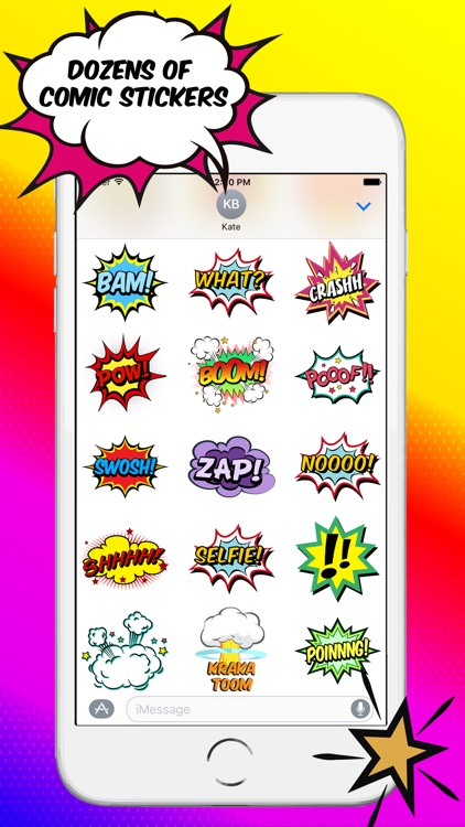 Comics Pop Art Stickers screenshot-3
