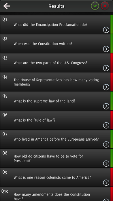 US citizenship 2017 - All The Questions screenshot 2