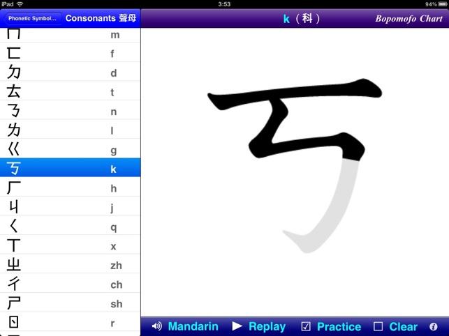 Learn Mandarin Phonetic Symbols Bopomofo For Ipad On The App Store