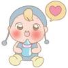 Michi, the cute baby for iMessage Sticker