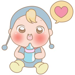 Michi, the cute baby for iMessage Sticker
