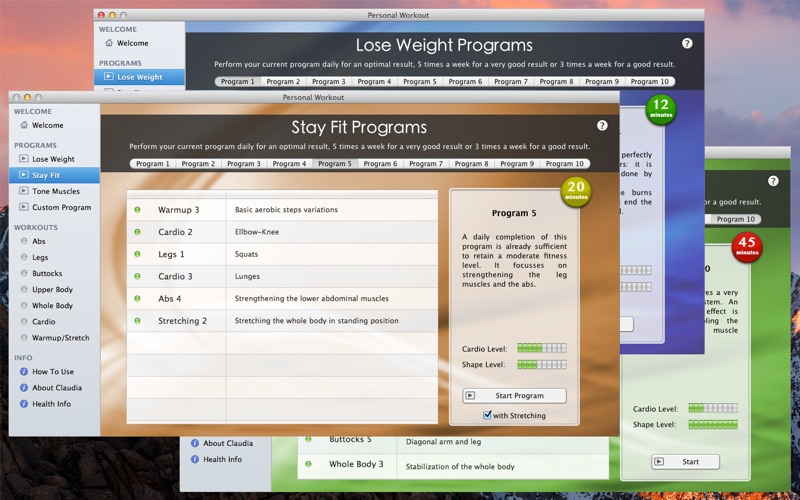 Personal Workout Screenshot