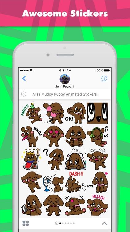 Miss Muddy Puppy Animated stickers by Beardownize