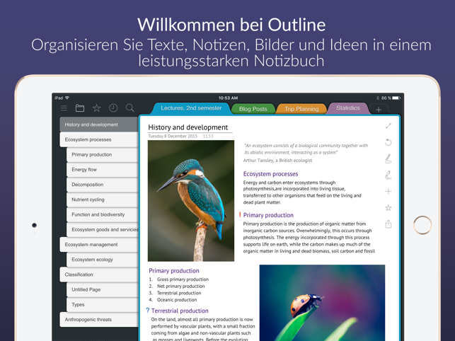 ?Outline – Dein digitales Notiz Screenshot