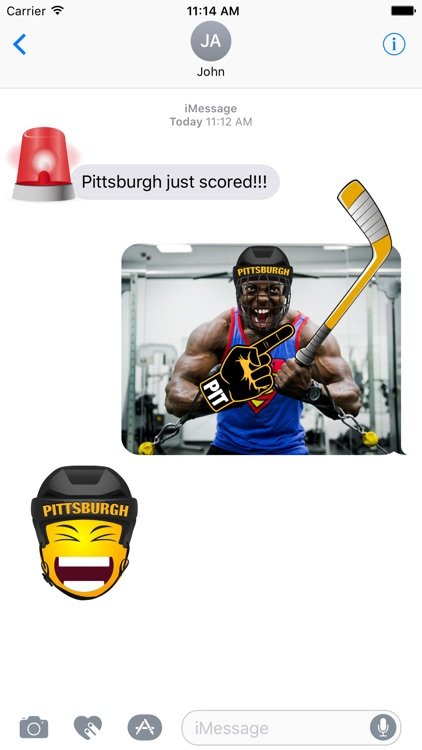 Pittsburgh Hockey Stickers & Emojis
