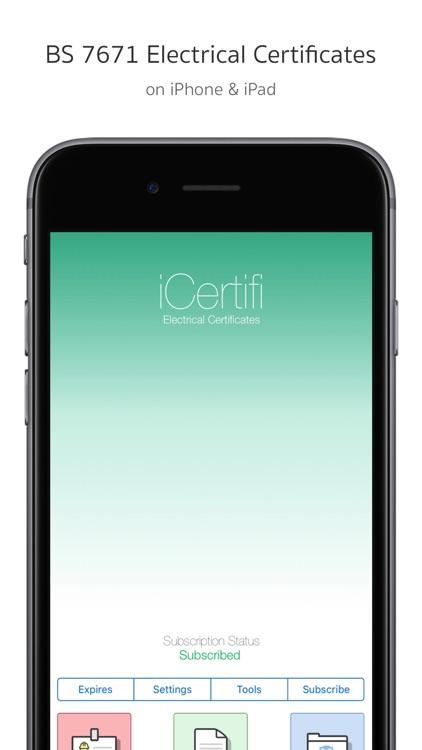 iCertifi screenshot-0