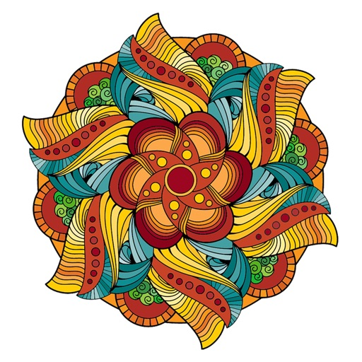 魔法の曼荼羅の塗り絵