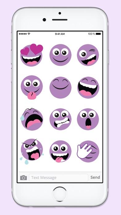 Purple People Emojis Sticker Pack screenshot three
