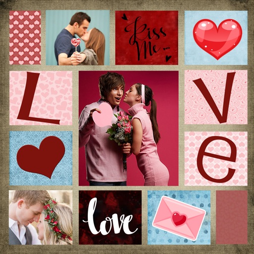 Valentine's Day Collage Photo Frames Editor iOS App