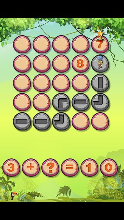 美国经典儿童数学游戏-迷失丛林 screenshot-3