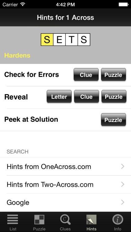 Crossword Light screenshot-3