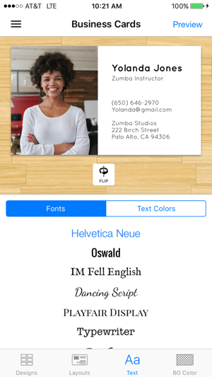Impress business card maker on the app store reheart Choice Image