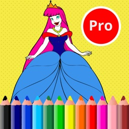 Cute Princess Easy and Fun Coloring Pages For Girl