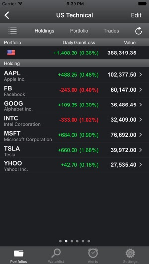 portfolio trader stock tracker on the app store