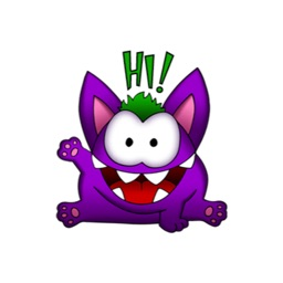 PURPLE GREMLIN (Animated) stickers by CandyA$$