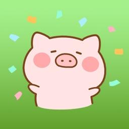 Piko Pig Japanese Animated Stickers